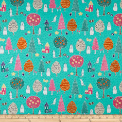 Paintbrush Studio Otter Romp Novelty Turquoise Fabric