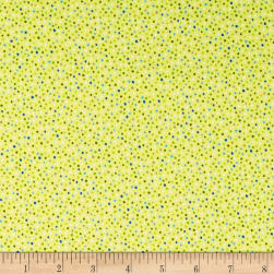 Paintbrush Studios Launch Party Colorful Dots Green Fabric