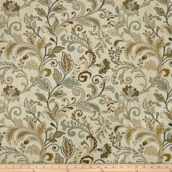 Europatex Masterpiece Scroll Slub Duck Field Fabric