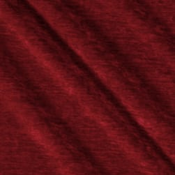 Europatex St. Tropez Solid Chenille Ruby Fabric