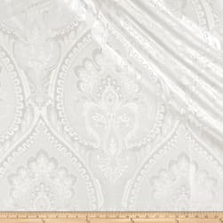Europatex Imperial Damask Jacquard Metallic Ivory Fabric
