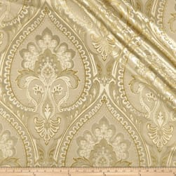 Europatex Imperial Damask Jacquard Metallic Cream Fabric