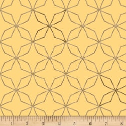Henry Glass Flannel Bumble Garden Kaleidoscope Gold Fabric