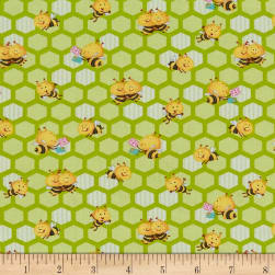 Henry Glass Busy Bees Small Honeycomb Bees Green