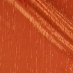 Creased Taffeta Orange Fabric