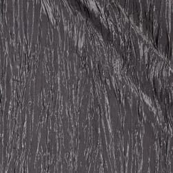 Creased Taffeta Charcoal Fabric