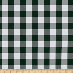 Picnic Gingham Yarn-Dyed Hunter Green/White Fabric