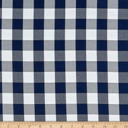 Picnic Gingham Yarn-Dyed Navy Blue/White Fabric