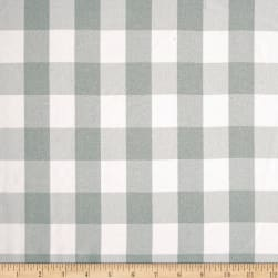 Picnic Gingham Yarn-Dyed Silver/White Fabric