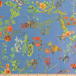 Preview Textiles Bright Flowers Crepe Georgette Floral Blue