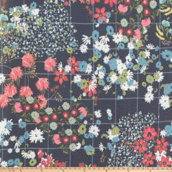 Preview Textiles Patch Floral Pebbled Stretch Crepe Floral