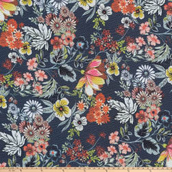 Preview Textiles Easy Florals Pebbled Stretch Crepe Floral