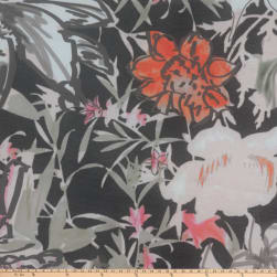 Preview Textiles Garden Party Floral Chiffon Floral Black/Pesto