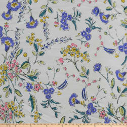 Preview Textiles Liliprint Broadcloth Floral White Fabric