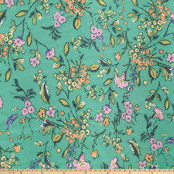 Preview Textiles Liliprint Broadcloth Floral Green Fabric