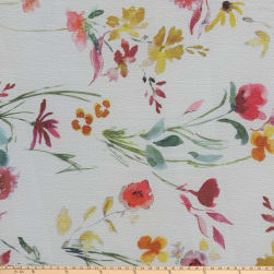 Preview Textiles Watercolor Flower Pebbled Stretch Crepe Floral