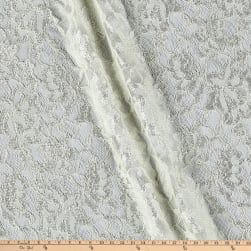 Chantilly Lace Double Boarder Ivory Fabric