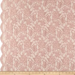 Chantilly Lace Double Boarder Pink Fabric