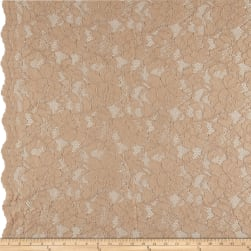 Heavy Corded Chantilly Lace Champagne
