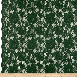 Heavy Corded Chantilly Lace Hunter Fabric