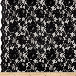Heavy Corded Chantilly Lace Black Fabric