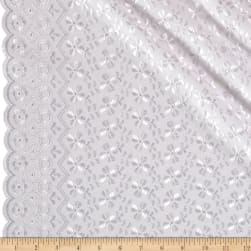 Heavy Cotton Eyelet White Fabric