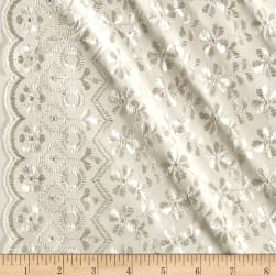 Heavy Cotton Eyelet Ivory Fabric
