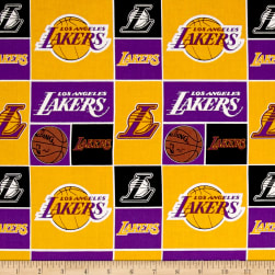 NBA Cotton Broadcloth LA Lakers Multi Fabric