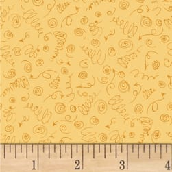 Terri Degenkolb Road Trippin' Curly Qs Butterscotch Fabric