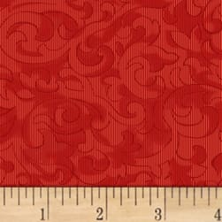 Mary Koval Colorwall Scroll Tomato Fabric