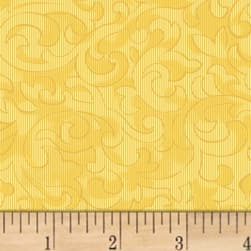 Mary Koval Colorwall Scroll Golden Haze Fabric