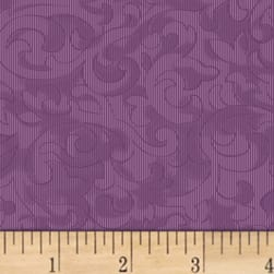 Mary Koval Colorwall Scroll Crushed Grape Fabric
