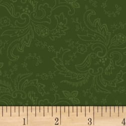Mary Koval Colorwall Paisley Forest Green Fabric