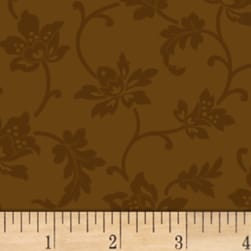 Mary Koval Colorwall Jacobean Flower Cocoa Brown