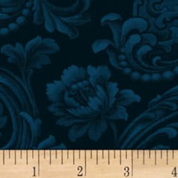 Mary Koval Colorwall Floral Brocade Navy