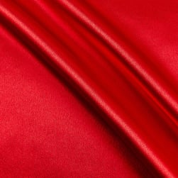 Heavy Crepe Back Satin Red Fabric