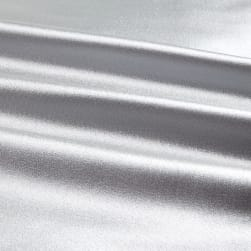 Heavy Crepe Back Satin Silver Fabric