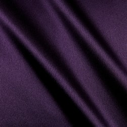 Heavy Crepe Back Satin Plum Fabric