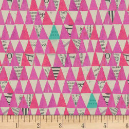 Carrie Bloomston Wonder Stacked Triangle Orchid Fabric