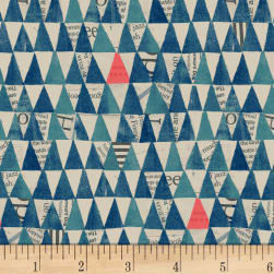 Carrie Bloomston Wonder Stacked Triangle Navy Fabric