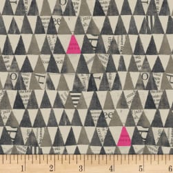 Carrie Bloomston Wonder Stacked Triangle Charcoal
