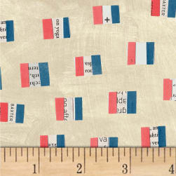 Carrie Bloomston Wonder French Flags Sand Fabric