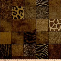 Wildebeast Faux Fur Toffee Fabric