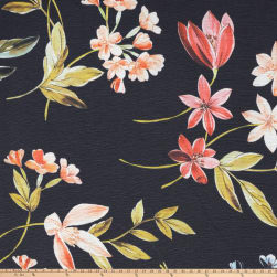 Preview Textiles Spring Milano Flowers Crinkle Crepe Floral