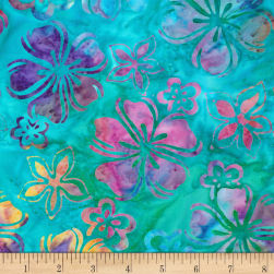 Kaufman Bright Blooms Artisan Batiks Surf Fabric