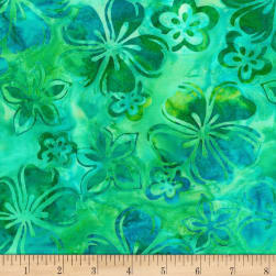Kaufman Bright Blooms Artisan Batiks Pool Fabric