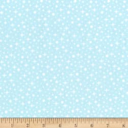 Kaufman Arctic Flannel Snowflakes Powder Fabric
