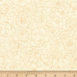 Kaufman Alphonse Mucha Flowers Digital Ivory Fabric
