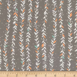 Kaufman Fleurie Flannel Vined Leaves Taupe Fabric