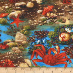 Kaufman The Last Frontier Crab Nature Fabric